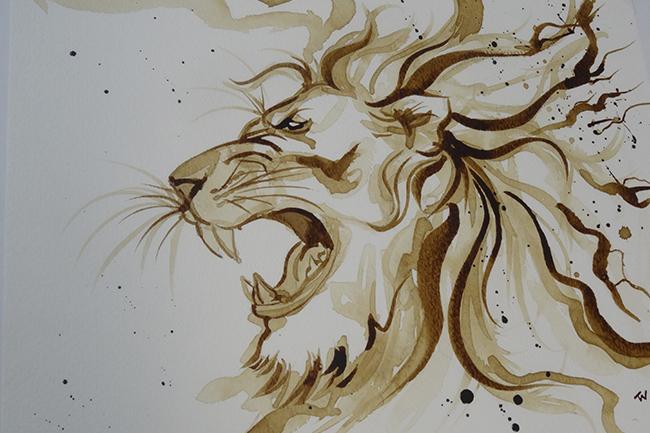 Tammie Wales faz pinturas com café