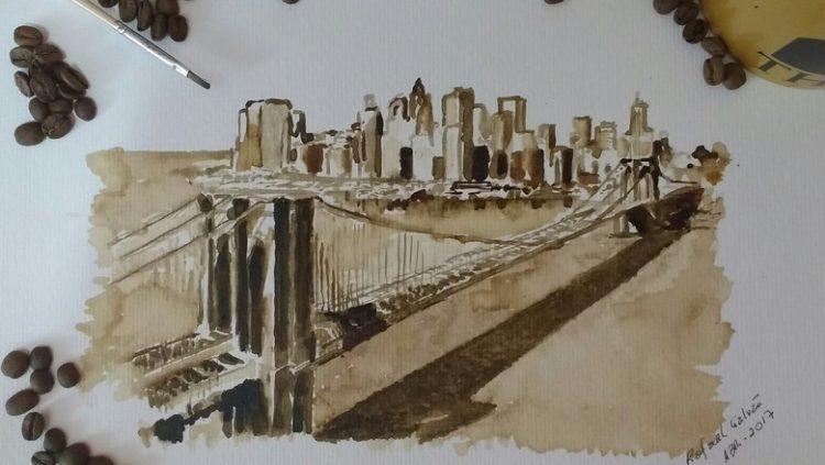 Pinturas com café feitas por artistas